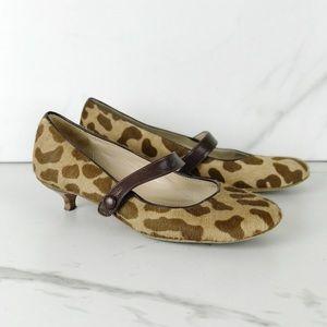Kate Spade New York Cheetah Calf Hair Kitten Heels